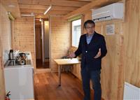 移動式木造住宅「ムービングハウス」が陸前高田市にお目見え
