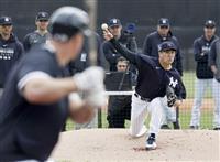 ヤンキース田中が打者11人に4K 秋山ら投手と対戦