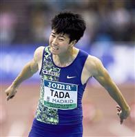 多田が60メートル自己新6秒56で4位 陸上世界室内ツアー