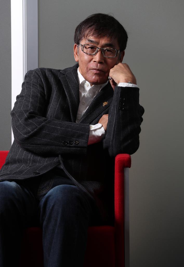 「この映画をみて福島の人たちの勇敢さをたたえてほしい」と語る若松節朗監督(佐藤徳昭撮影)