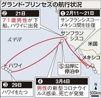 【動画あり】米カリフォルニア沖のクルーズ船に日本人4人乗船 20人にコロナ感染の疑い