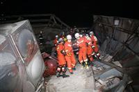 新型コロナ 中国の隔離施設倒壊、死者4人に 約40人が救出