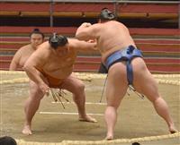 御嶽海、自慢の押し相撲で3連勝 三役復帰目指す