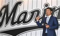 鳥谷「また野球ができる」 ロッテ本拠地にあいさつ