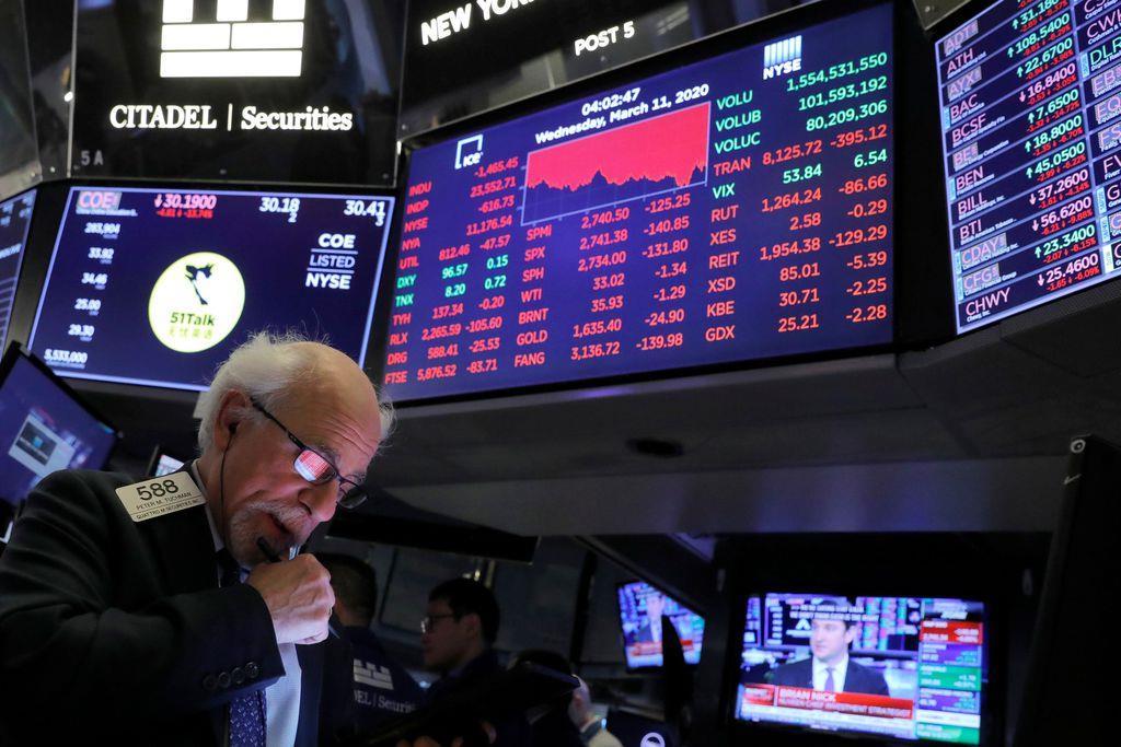 ニューヨーク株式市場のトレーダー(ロイター)