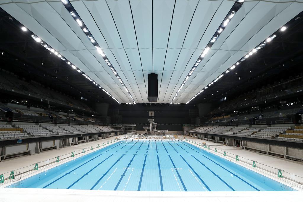 五輪水泳会場の完成式延期 新型コロナ対策で東京都