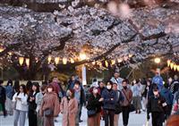 「やっぱり桜見たい」上野公園に人の波 シート敷くグループも