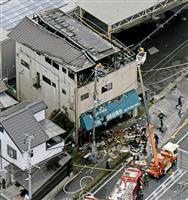 建物火災で3人搬送 東大阪、一時停電も