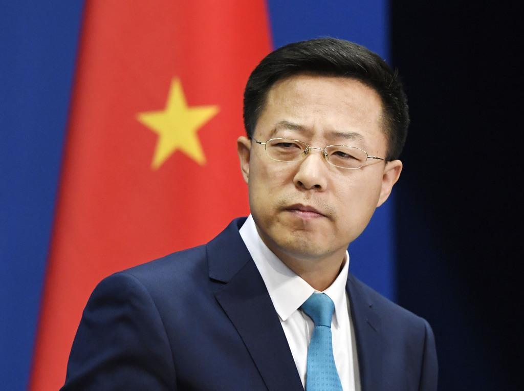 中国外務省の趙立堅副報道局長(共同)