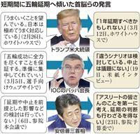 東京五輪「中止」は回避 安倍首相とIOCの利害一致 「延期」容認に入念にすりあわせ