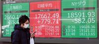 東証、大幅続伸して始まる 上げ幅800円超える