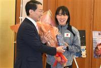 五輪内定のボクシング・入江選手が鳥取に帰郷 「金メダル取りたい」