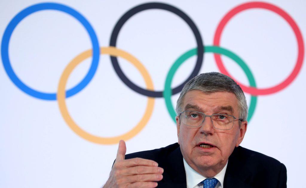 IOCのバッハ会長(ロイター)