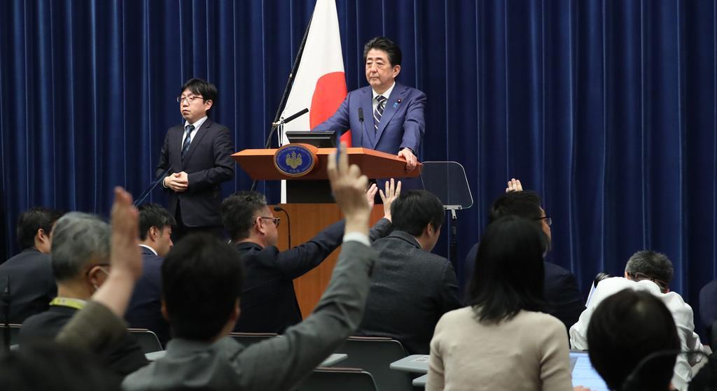 首相「10日程度で経済対策」 リーマン上回る規模