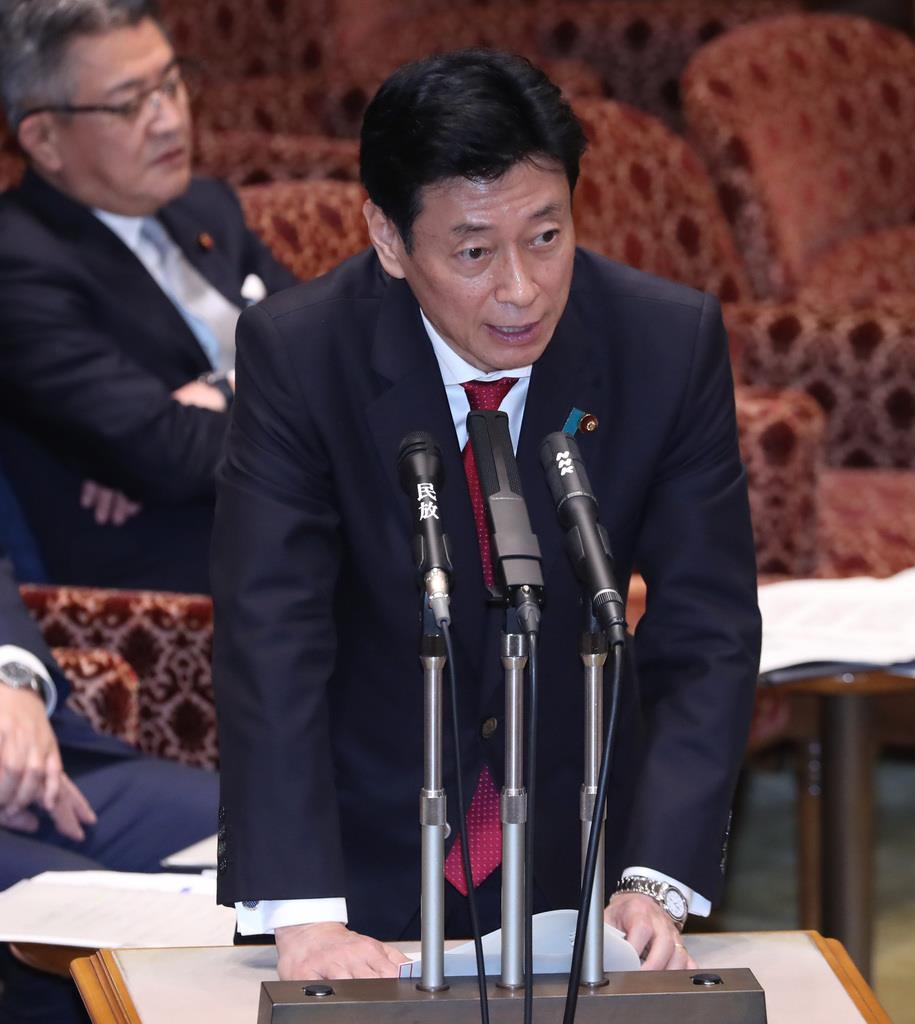 西村担当相、緊急事態宣言「必要との判断が出ればやる」