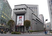 東証、大幅反落 一時600円以上値下がりし1万8700円台