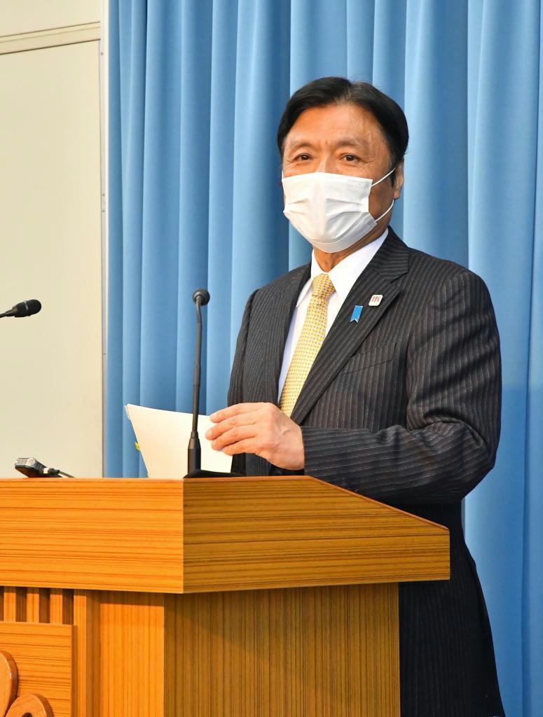 記者 緊急 福岡 会見 県