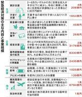 緊急対策、各項目の詳細は 収入減で30万円給付