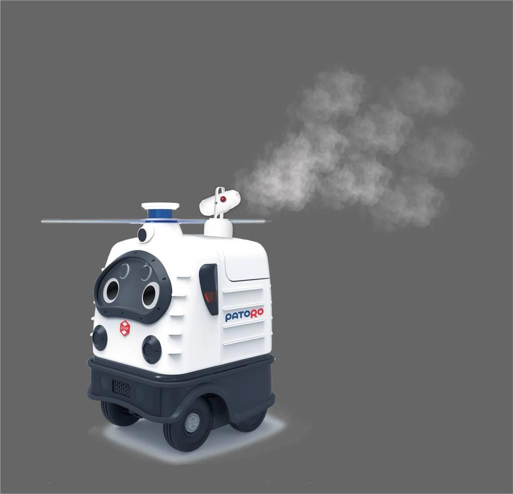 警備ロボで消毒を自動無人化