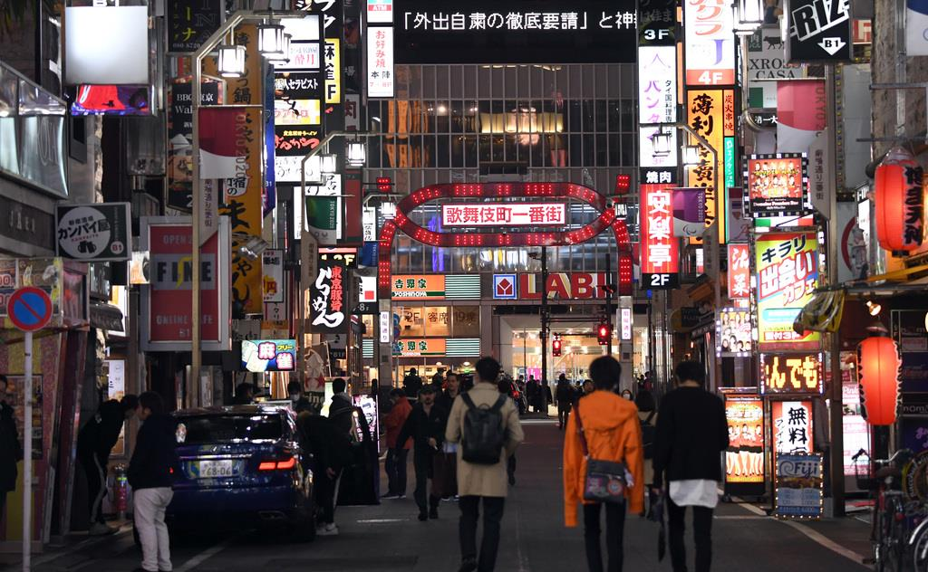 繁華街で警察の警戒「強化している」 武田国家公安委員長