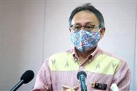 沖縄知事、辺野古デモに「3密にならないように」