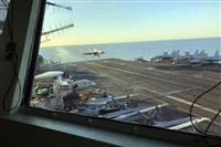 米空母トルーマン、コロナ感染避け大西洋上で待機