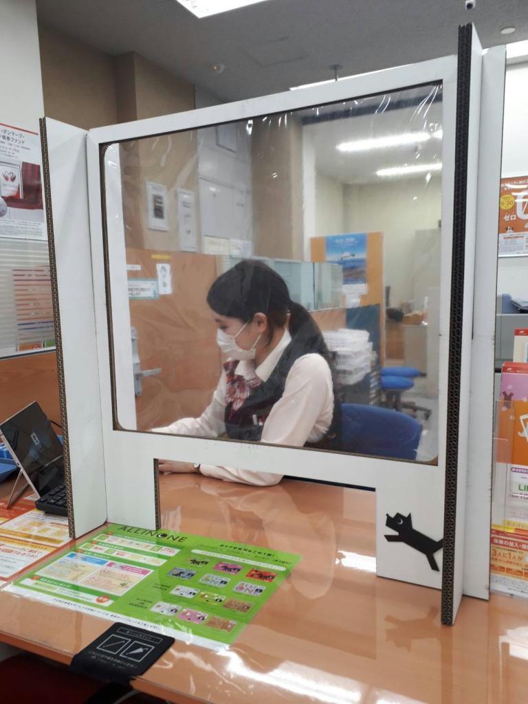 西日本シティ銀行の営業店窓口に近く設置する間仕切り(同銀行提供)