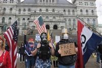 米各地で経済再開要求デモ 「貧困はウイルスより怖い」 新型コロナ