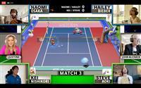 大坂組のネット回線不調で錦織組が勝利 ゲームの慈善テニス