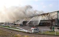 宮城で火災、鎮火に6日間 物流倉庫4万平方メートル焼損