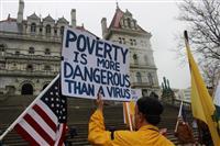 【アメリカを読む】「反封鎖デモ」にみる米国 規制に反発「補助金じゃなく、仕事がしたい」