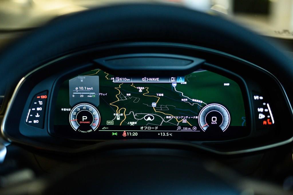 メーターはフルデジタル。ナビゲーションマップも表示可能。