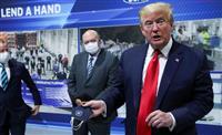 「マスク姿見せたくない」 トランプ氏、工場視察で着用せず