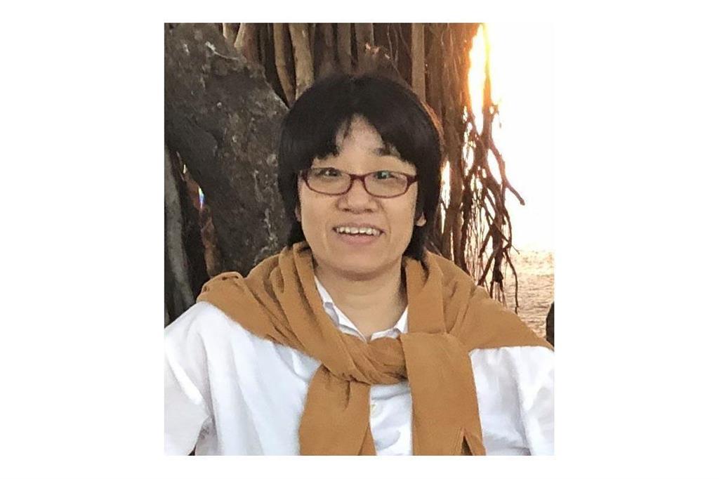 猿橋賞に決まった京都大の市川温子准教授=2019年4月、米ハワイ州(女性科学者に明るい未来をの会提供)