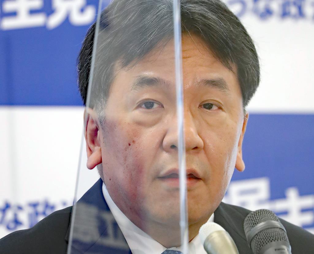 立憲民主党の枝野幸男代表=5月29日午後、国会内(春名中撮影)