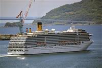 長崎停泊のクルーズ船出港 マニラへ、船内感染者なし