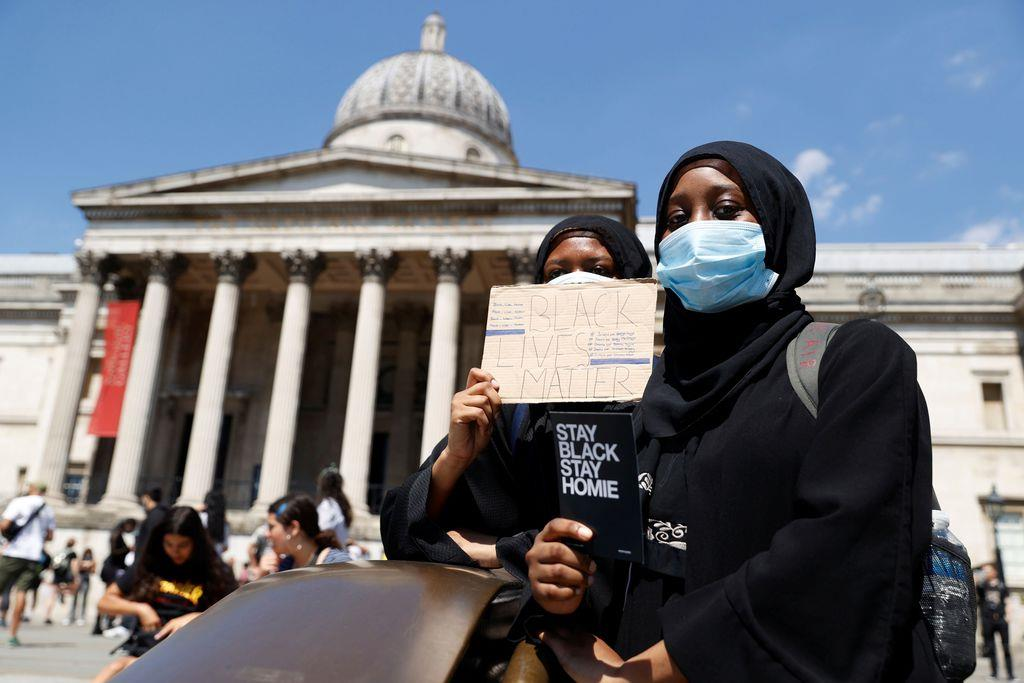 ロンドンでも抗議デモ 米の黒人暴行死