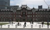 東京駅64%増、都心に人出戻る 解除後初めての土日