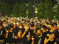 【動画あり】香港で天安門追悼集会 1万人以上が参加 「香港人は戦車の前に」