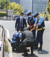 首相車列に男飛び出し 官邸前で取り押さえ