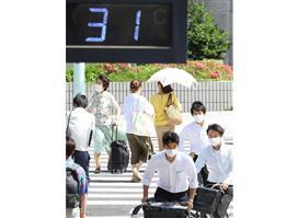 30度以上の観測点最多 東京都心は初の真夏日