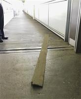 新幹線ホームに鋼板落下 新花巻駅、けが人なし