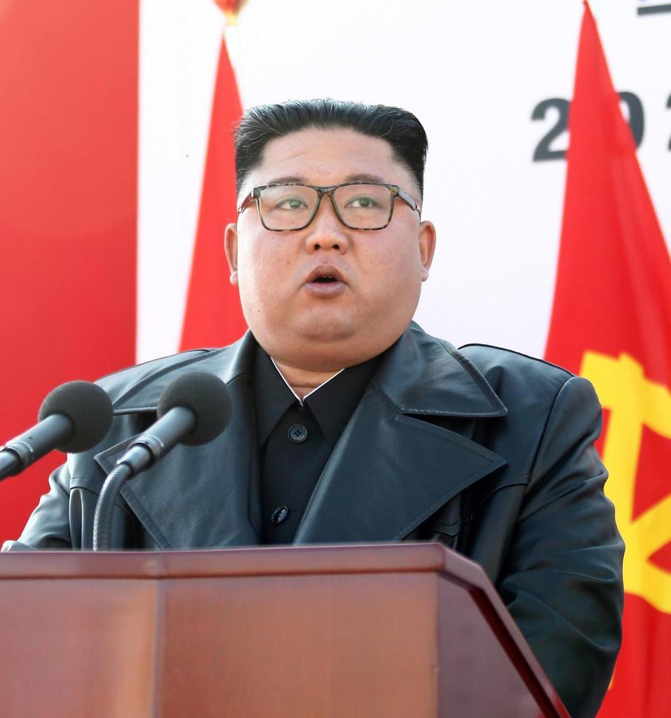 北朝鮮の金正恩朝鮮労働党委員長(朝鮮中央通信=共同)