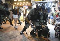 """香港各地で""""デモの歌""""合唱 国家安全法、国歌条例に抗議へ"""