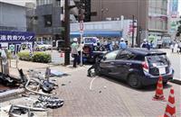 ビルに車突っ込み2人搬送 千葉・船橋の学習塾