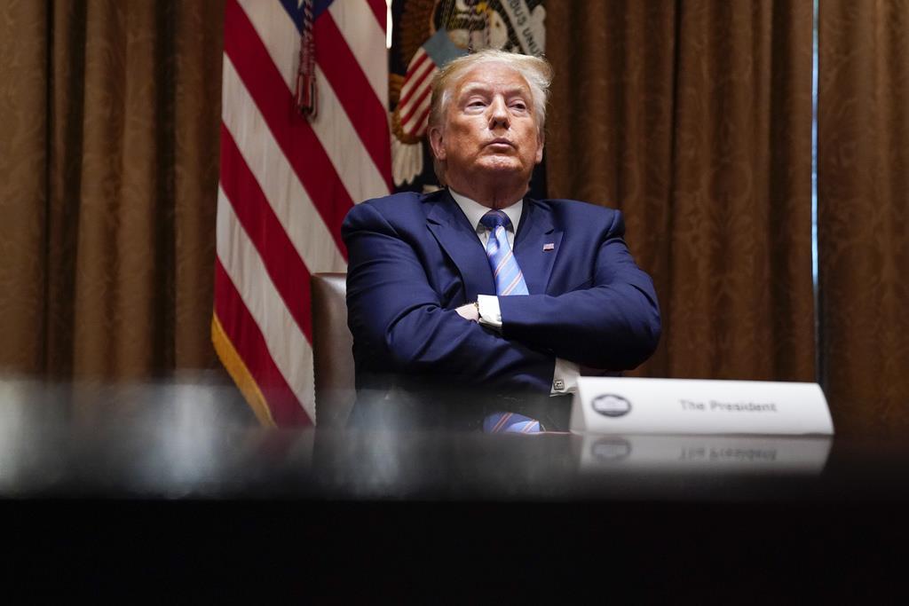 トランプ米大統領=6月15日、ホワイトハウス(AP)