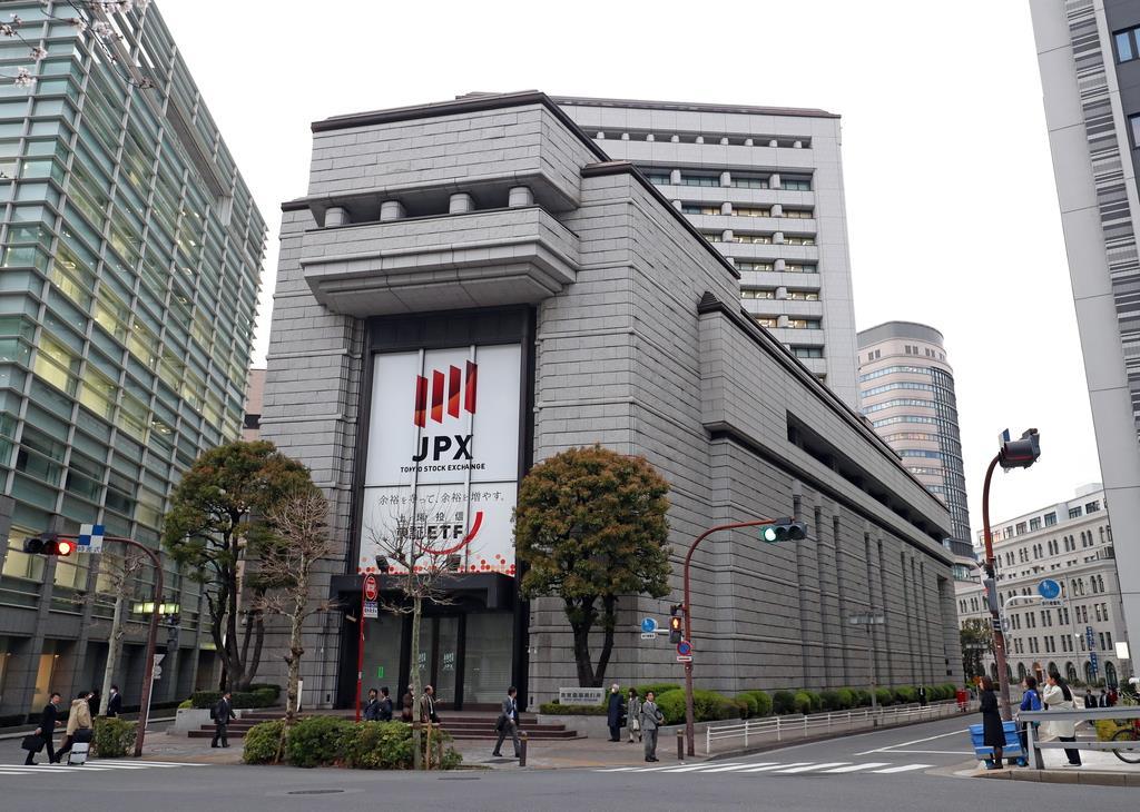 東京証券取引所=東京都中央区(桐原正道撮影)