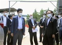神奈川のプレハブ施設視察 西村担当相
