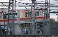 【動画】阪神電鉄車庫で車両脱線 運転士がけが 兵庫・尼崎