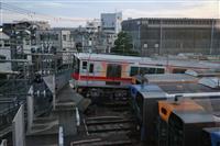 【動画あり】「家が大きく揺れた」阪神電鉄車庫の脱線で住民驚き
